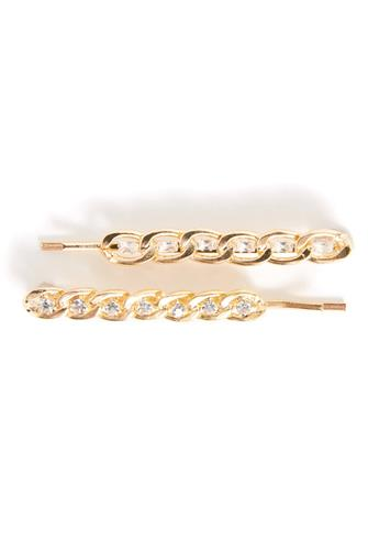 Chain Bobby Pins 2 Pack GOLD