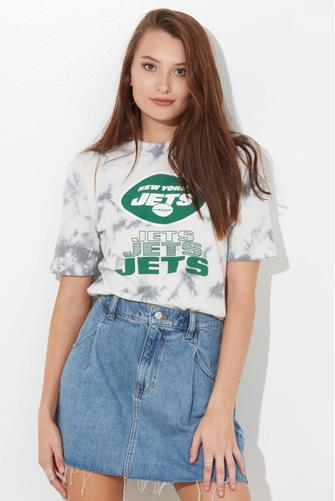 New York Jets Tie Dye Spirit Tee GREY