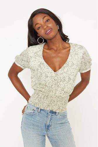 Rossy Floral Blouse SAGE