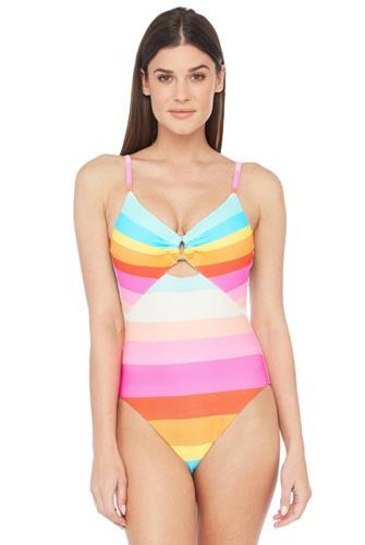 Sunrise Stripe Maillot One Piece Swimsuit MULTI