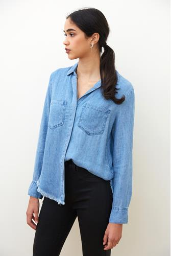 Riley Carmenita Button Down Shirt CHAMBRAY