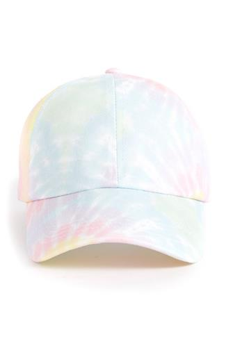 TIE DYE BALL CAP- PINK PINK MULTI -
