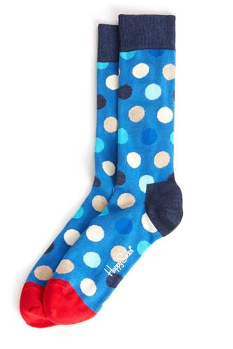 Big Dot Socks BLUE-MULTI--