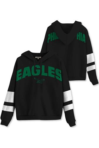 Philadelphia Eagles Sideline Stripe Fleece BLACK