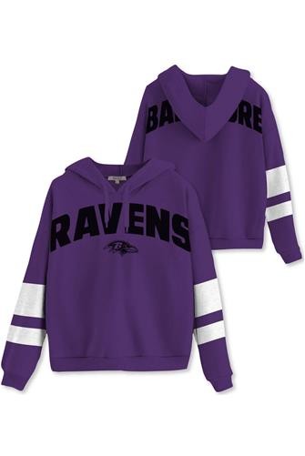 Baltimore Ravens Sideline Stripe Fleece PURPLE
