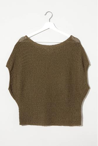 Tape Yarn Pullover OLIVE