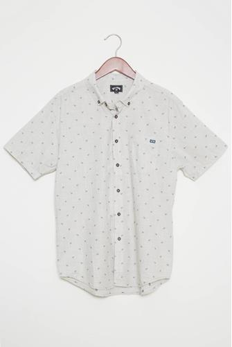 All Day Jacquard Woven Button Down Shirt KHAKI