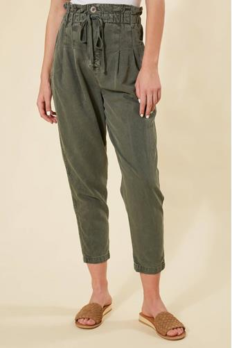 Margate Pleated Trouser OLIVE