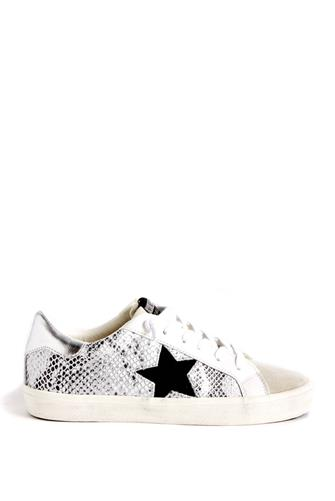 Kate Silver Snake Sneaker WHITE MULTI -