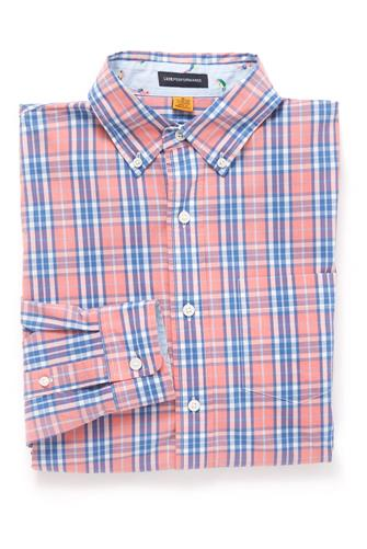 Pink Plaid Button Down Shirt PINK-MULTI--
