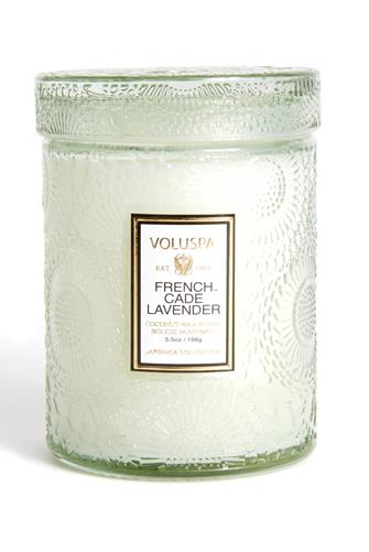 French Cade Lavender Small Jar Candle 5.5 oz. MINT-GREEN