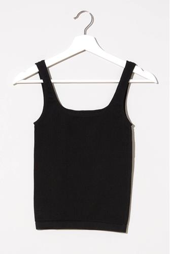 Ribbed Seamless Tank Top BLACK