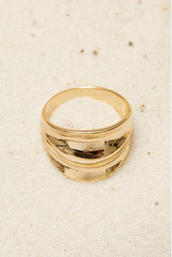 Gold Double Band Ring GOLD