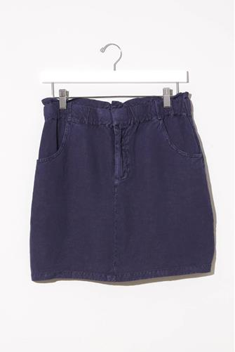 Wilston Paperbag Tencel Mini Skirt BLUE