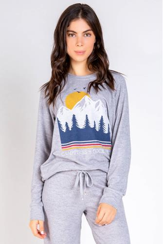 Campfires & Cocktails Sweatshirt GREY