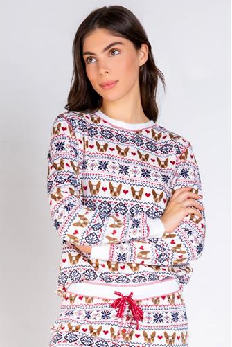 Holiday Frenchie Sweatshirt WHITE-MULTI--