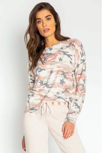 Pink Camo & Star Sweatshirt MULTI