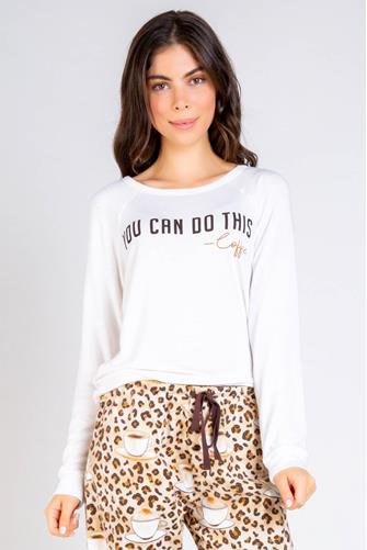 You Can Do This Coffee Sweatshirt WHITE