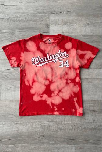 Washington Nationals 34 Bright Red Tie Dye Tee RED