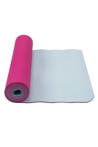 Light Blue & Orchid Eco Yoga Mat PINK-MULTI--