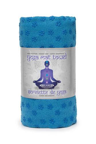 Blue Anti-Slip Yoga Towel BLUE