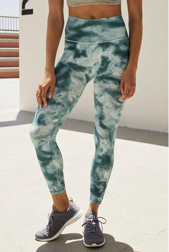 Good Karma Tie Dye Leggings GREEN