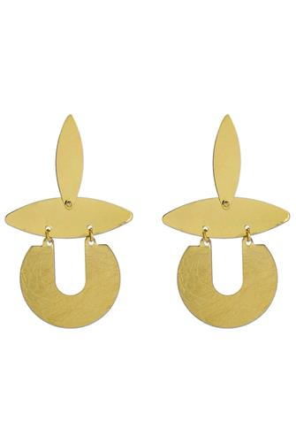 Geo Statement Earrings GOLD
