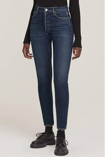 Nico Hi Rise Slim Leg Jean in Cabana DARK-DENIM