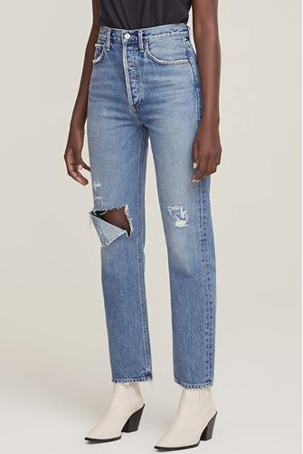 Fitted 90's Jean in Line Up MEDIUM-DENIM