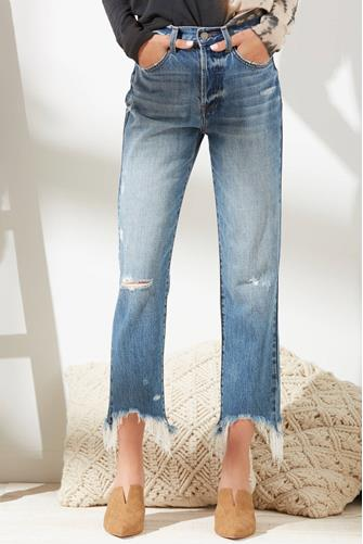 Charlie Hi Rise Straight Leg Jean in Florence MEDIUM-DENIM