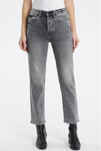 Charlie Hi Rise Straight Leg Jean in Misguided GREY