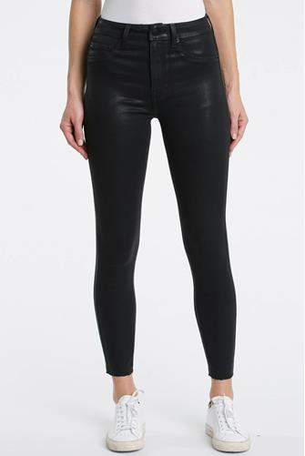 Aline Hi Rise Skinny Jean in Coated Black BLACK
