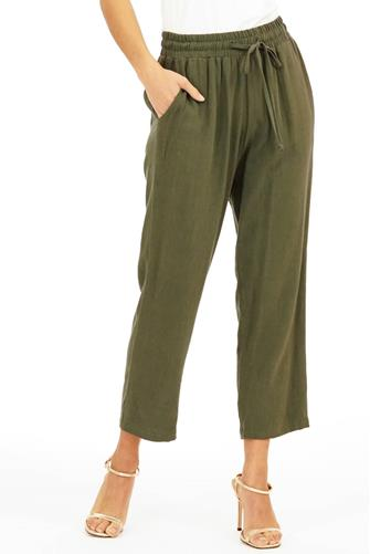 Linen Tapered Pull-On Pant OLIVE