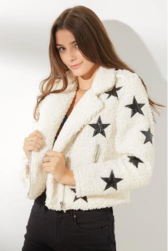 Northern Star Teddy Moto Jacket WHITE-MULTI--