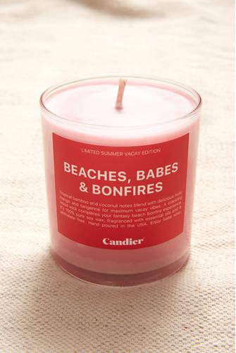Beaches, Babes & Bonfire Candle 9 oz. PINK-MULTI--