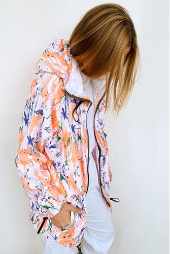 Magical Connection Protective Long Jacket WHITE-MULTI--