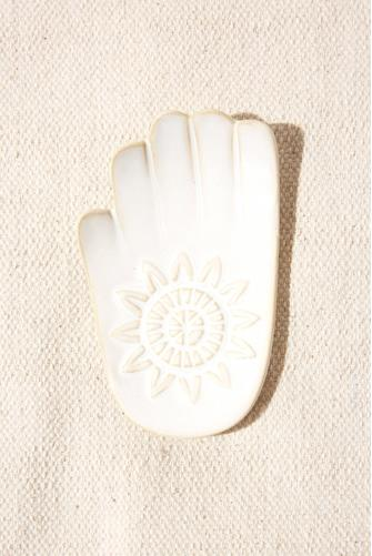 Hamsa Hand Small Dish WHITE