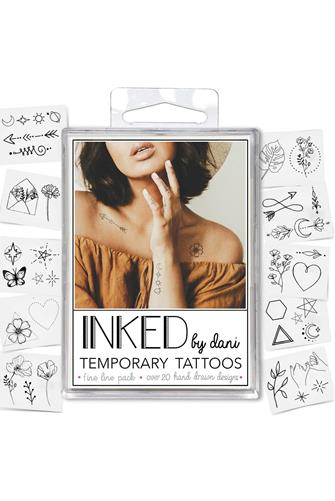 Temporary Tattoos Fine Line Pack BLACK