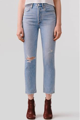 Riley Hi Rise Straight Leg Crop Jean in Shatter LIGHT-DENIM--