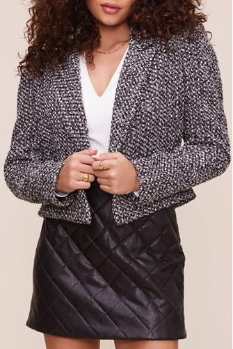 Perla Tweed Jacket BLACK MULTI -
