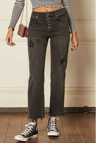 Mikey Wide Leg Jean in Moonfleet BLACK