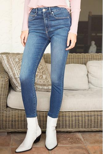 Good Waist Crop Raw Edge Jean MEDIUM-DENIM