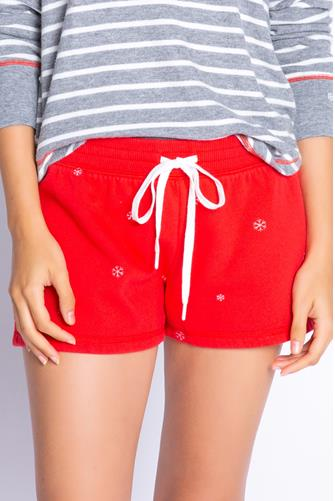 Snowflake Red Short RED