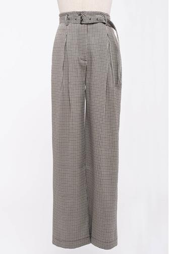 Plaid Belted Trouser BROWN MULTI -