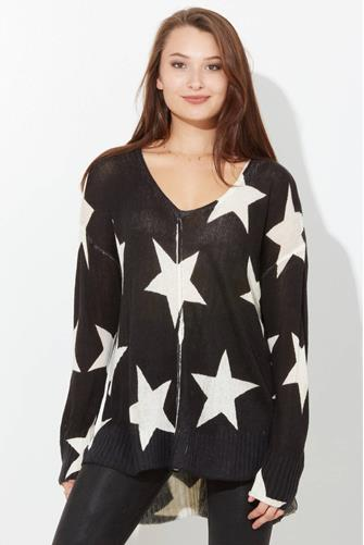 Star Print Tunic BLACK