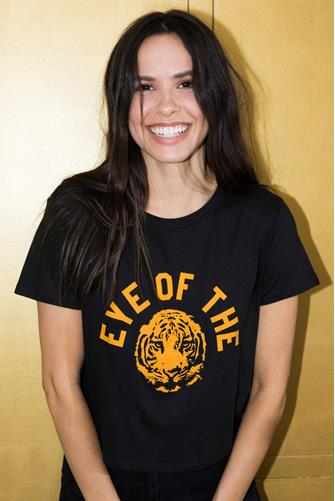 Eye Of The Tiger Loose Tee BLACK