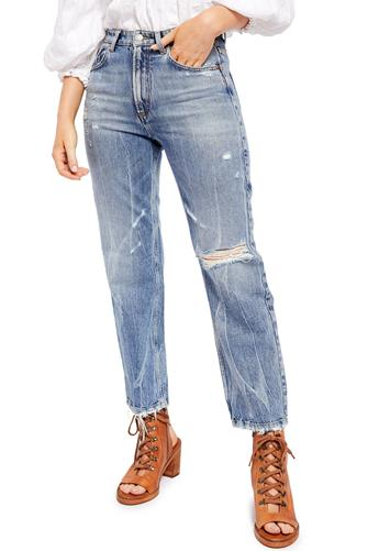 Dakota High Rise Straight Leg Jean in Indigo MEDIUM-DENIM