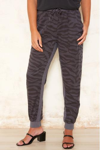 Charcoal Zebra Tencel Jogger CHARCOAL