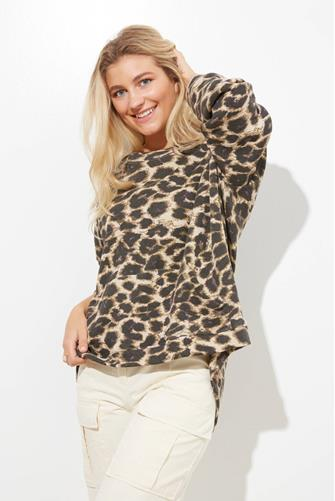 Leopard Oversized Tunic Sweatshirt MULTI