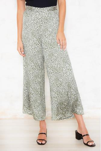 Delephine Wide Leg Pant GREEN MULTI -
